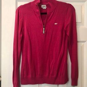 Vineyard Vines Pink 1/4 Zip Sweater